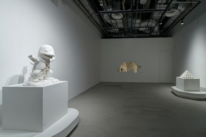 daniel arsham pokemon sculptures relics of kanto through time exhibition pikachu jigglypuff nanzuka tokyo japan