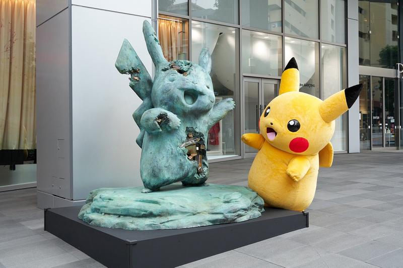 daniel arsham pokemon sculptures relics of kanto through time exhibition pikachu jigglypuff nanzuka tokyo japan