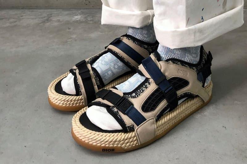 Dior Spring/Summer 2021 Men's Sandals Monogram Rope Navy Blue