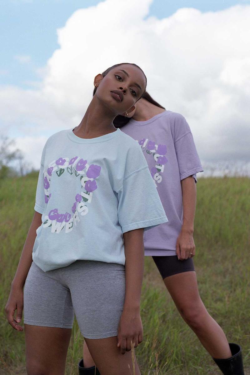 fresh cut flowers summer collection lookbook tees sweatshirts