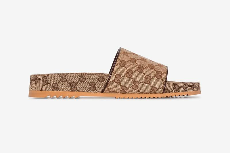 gucci brown gg supreme monogram sandals slides release price
