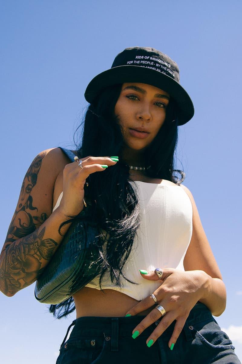 Celina Rodriguez Creative Director Makeup Artist Eyebrows Brows Los Angeles Bucket Hat Corset