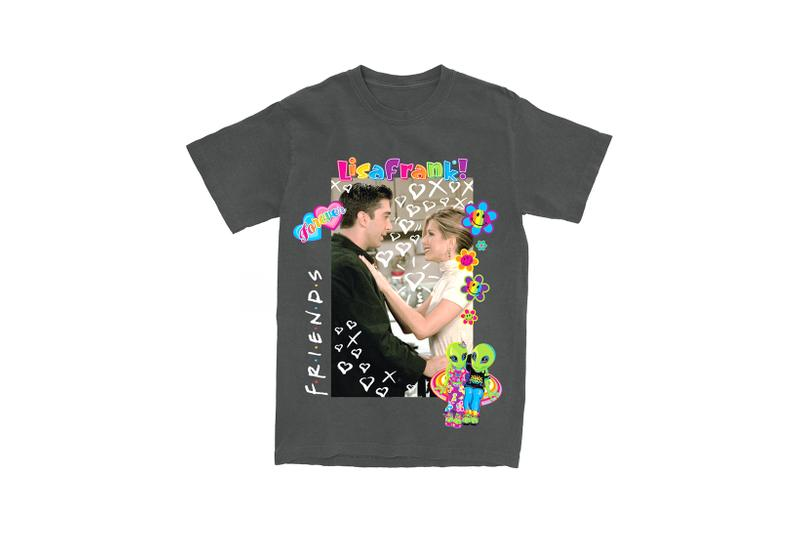 Lisa Frank x Friends TV Show Clothing Collaboration Collection T-Shirt Black
