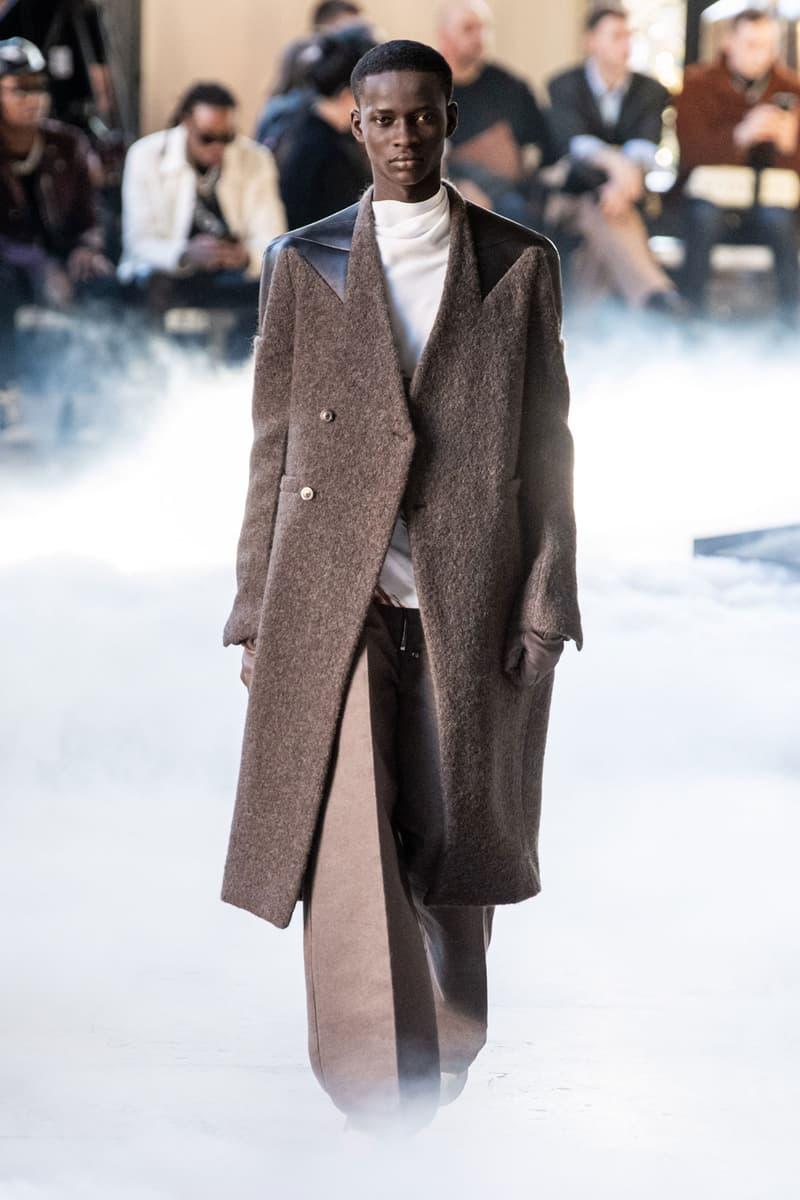 Rick Owens Fall/Winter 2020 Men's Show Paris Fashion Week Collection