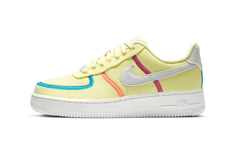 nike air force 1 07 lx womens sneakers pastel pink neon orange green shoes sneakerhead footwear