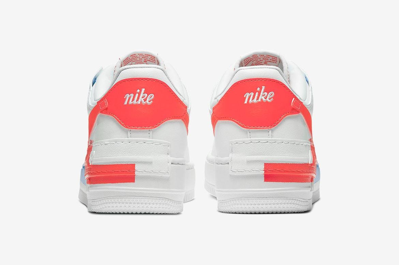 Nike Women Air Force 1 Shadow White Neon Orange Hypebae Unfortunately nike doesn't do the shoe in us men's 12. air force 1 shadow white neon orange