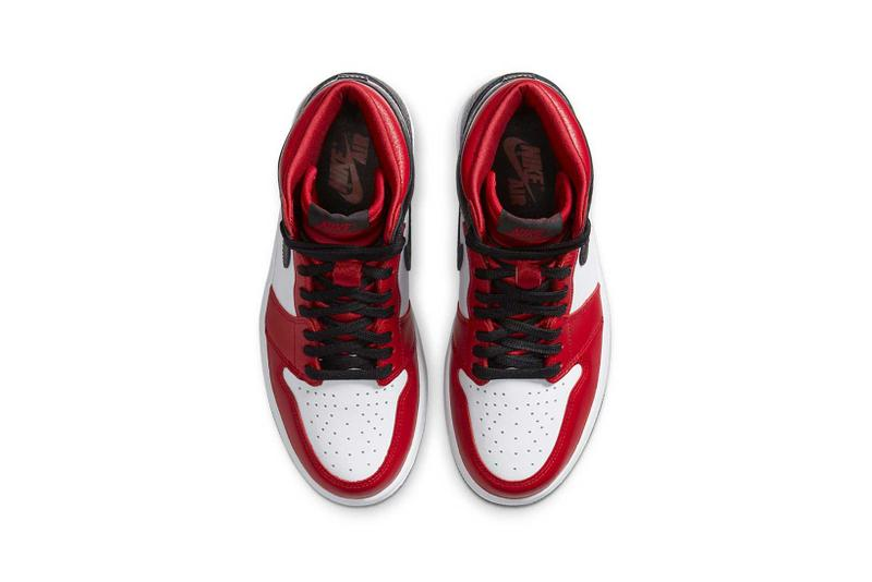 nike air jordan 1 retro high og womens sneakers black red white satin snake sneakerhead shoes footwear