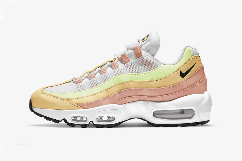 nike air max 95 pastel women's sneakers atomic pink white melon tint yellow orange