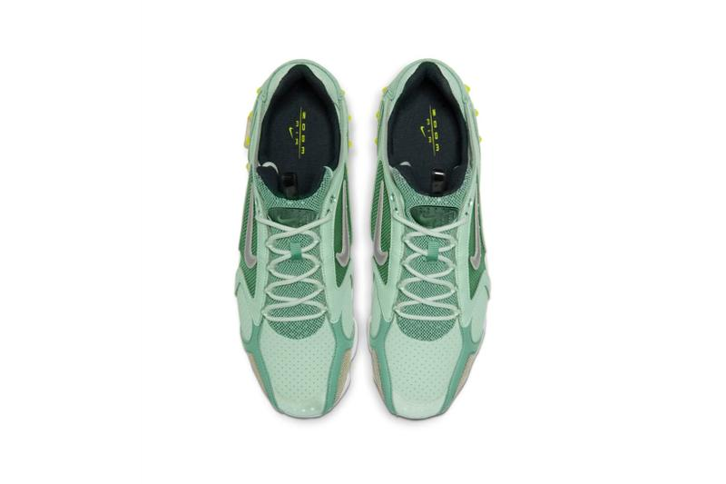 nike air zoom spiridon cage 2 sneakers mint green pistachio yellow shoes sneakerhead footwear