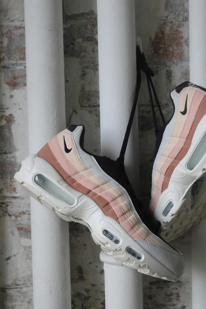 nike by you workshop air max 95 womens sneakers pastel pink black cream white jade macpepple jaja shoes sneakerhead footwear