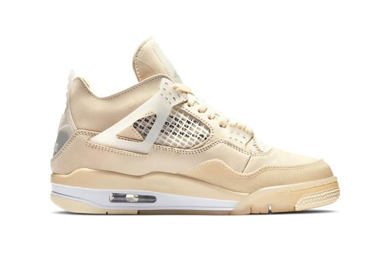 nike off white collaboration air jordan 4 sail womens exclusive sneaker cream virgil abloh footwear shoes sneakerhead