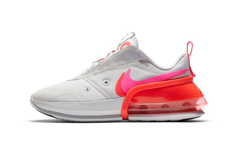 nike womens exclusive air max up sneakers shoes footwear sneakerhead pastel blue neon orange gray
