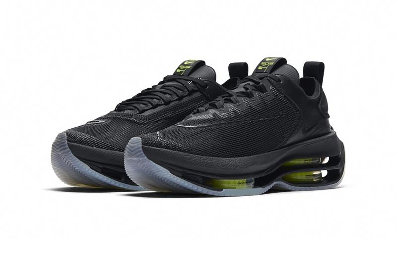 nike air zoom double stacked womens sneakers barely volt neon yellow black release price
