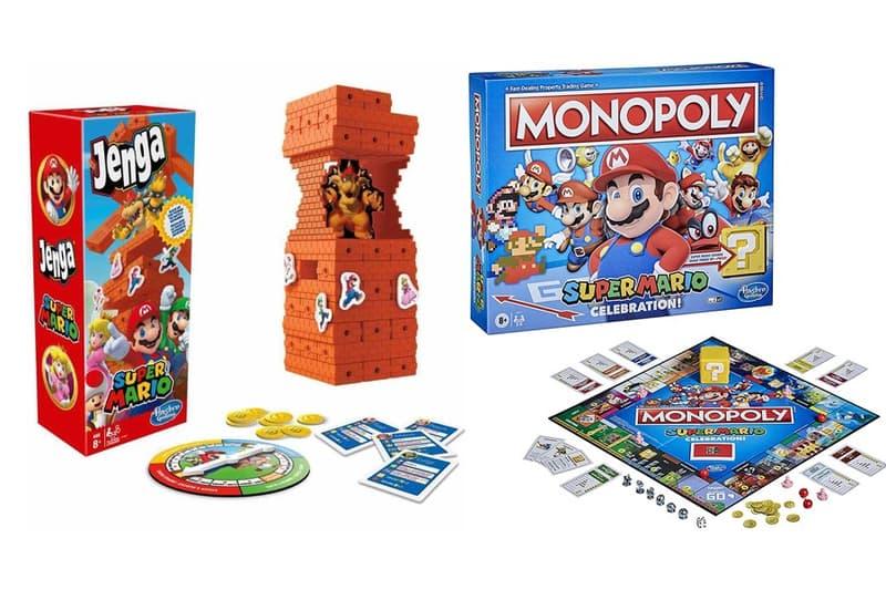 super mario bros 35th anniversary jenga monopoly nintendo hasbro board games