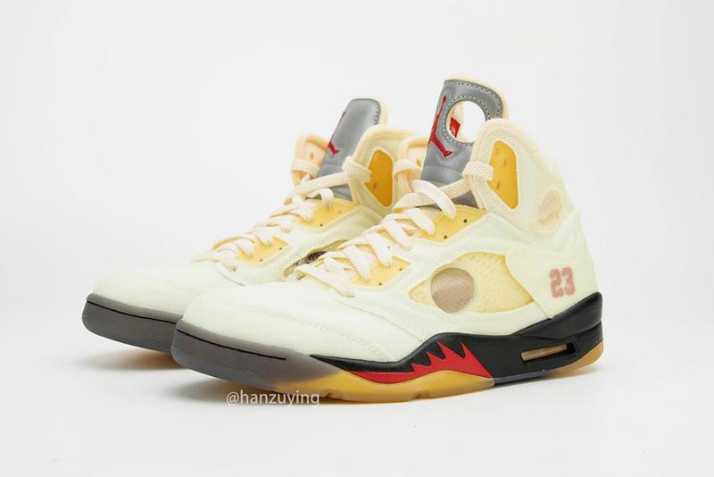off white air jordan 5 sail nike aj5 closer look release date info sneakers