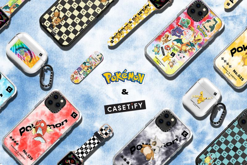 pokemon casetify collaboration iphone airpods ipad macbook cases nintendo pikachu bulbasaur charmander release date info