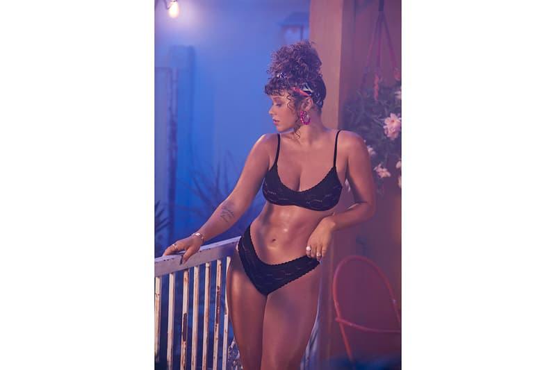 Savage X Fenty August Drop Summer20 Collection Campaign Bra Underwear Black