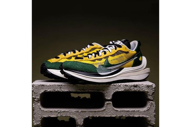 sacai x Nike VaporWaffle Tour Yellow Sneaker Collaboration