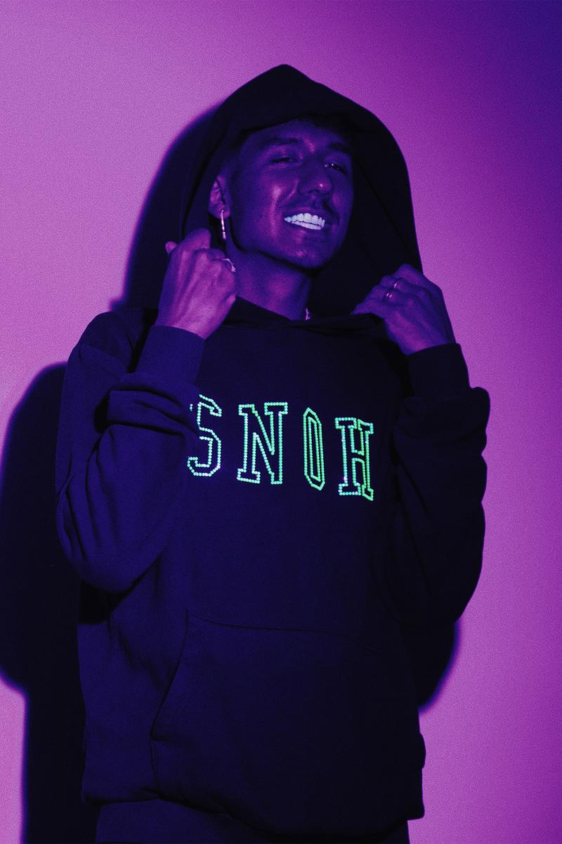snoh aalegra rsvp gallery collaboration swarovski hoodies green black
