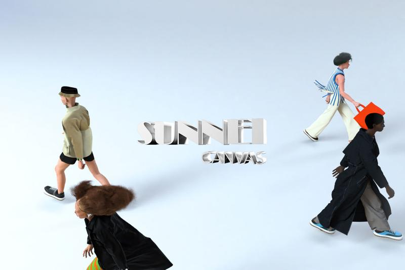 sunnei canvas customization virtual reality technology milan fashion week 3d digital