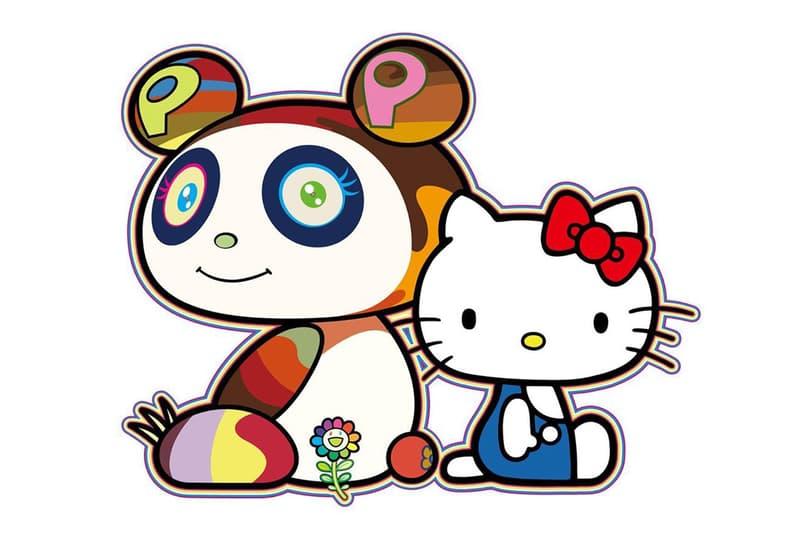 hello kitty takashi murakami panda sanrio collaboration art