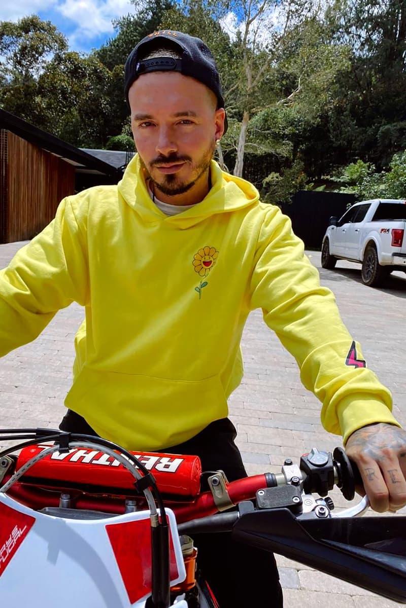 takashi murakami j balvin collaboration hoodies t shirts yellow black
