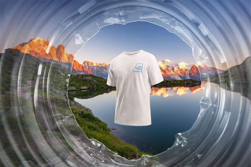 the north face tnf bottle source t-shirts tees plastic waste sustainability environment mountains alps