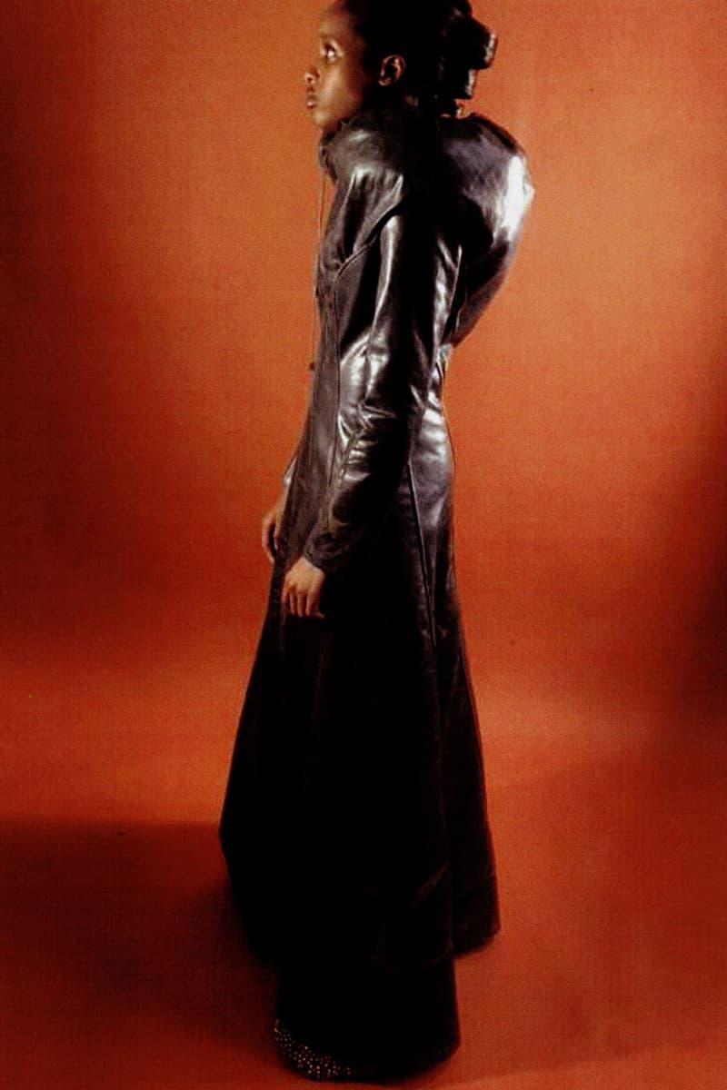 yasmina atta designer interview leather coat