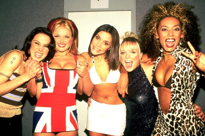 spice girls 1990s fashion united kingdom london leopard print victoria beckham mel b c emma bunton geri halliwell