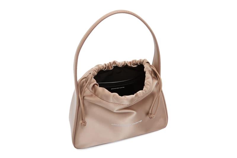 alexander wang pink satin small ryan top handle mini scrunchie designer bags