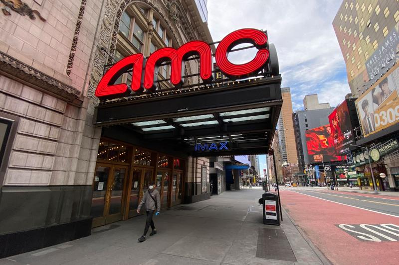 AMC Movie Theater Times Square New York City Exterior