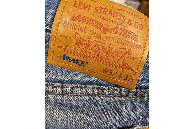 awake ny levis collaboration fall winter jeans denim