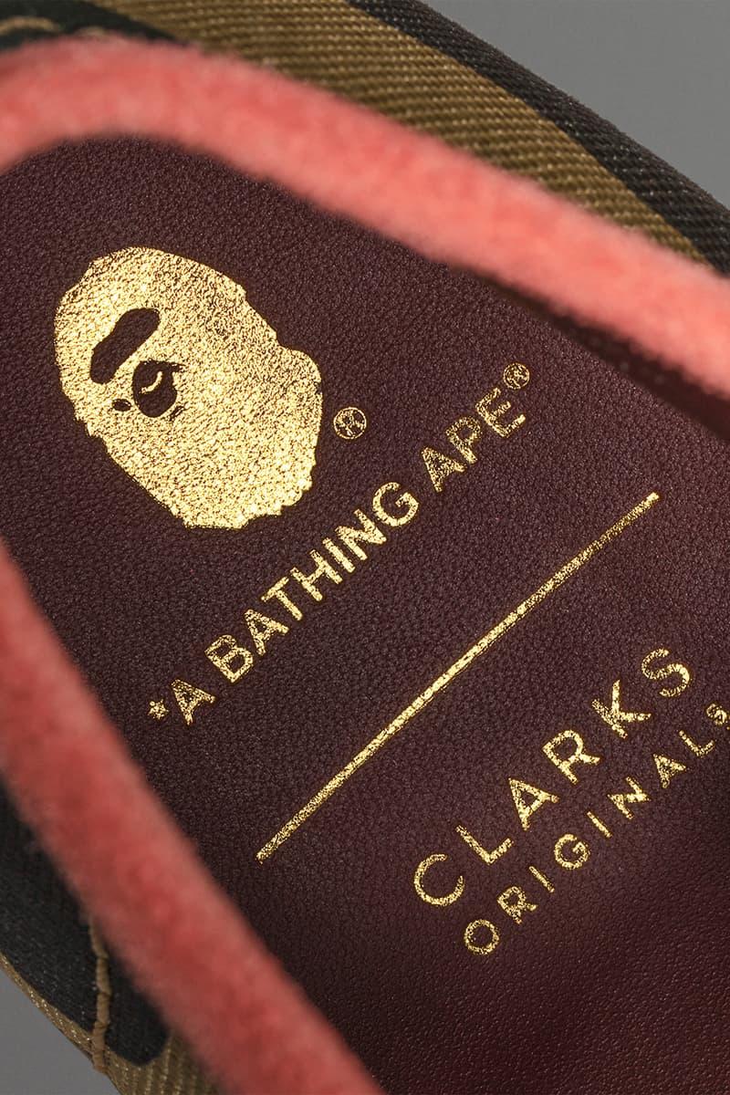 bape a bathing ape clarks originals collaboration wallabee desert boot footwear