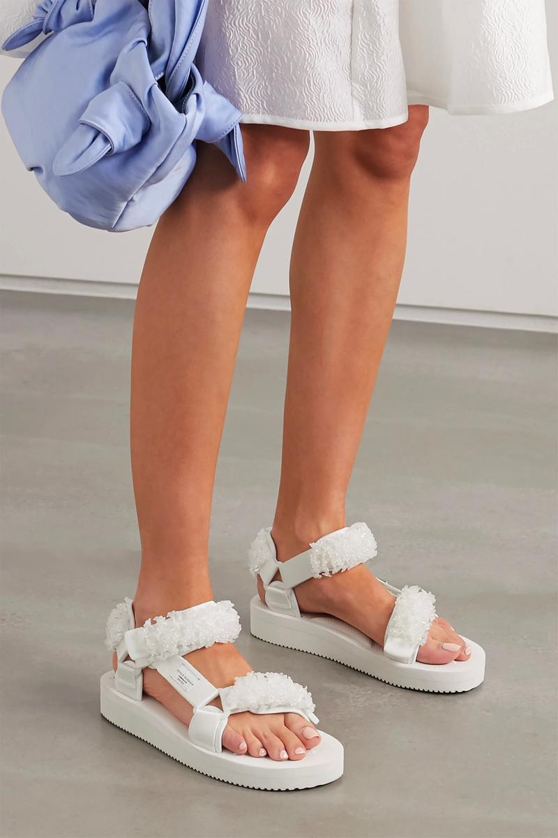 Cecilie Bahnsen Suicoke Maria bead-embellished canvas velcro sandals