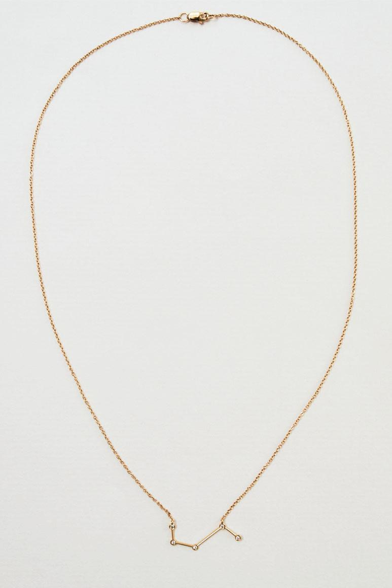 Blue Billie Star Sign Zodiac Constellation Necklaces Gold White Gold Diamond Luxury