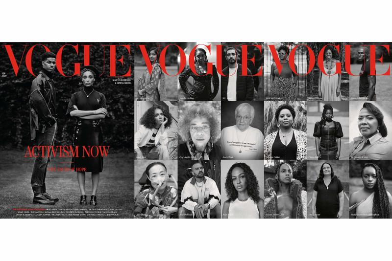 British Vogue 'Activism Now' September Cover Marcus Rashford Adwoa Aboah Edward enninful