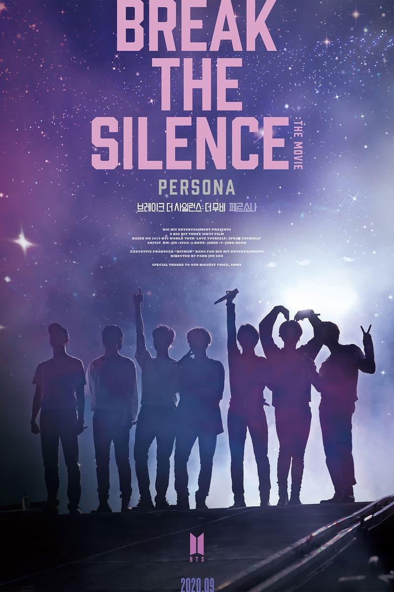 bts break the silence movie film love speak yourself world tour k-pop release rm jin suga j-hope jimin v jungkook