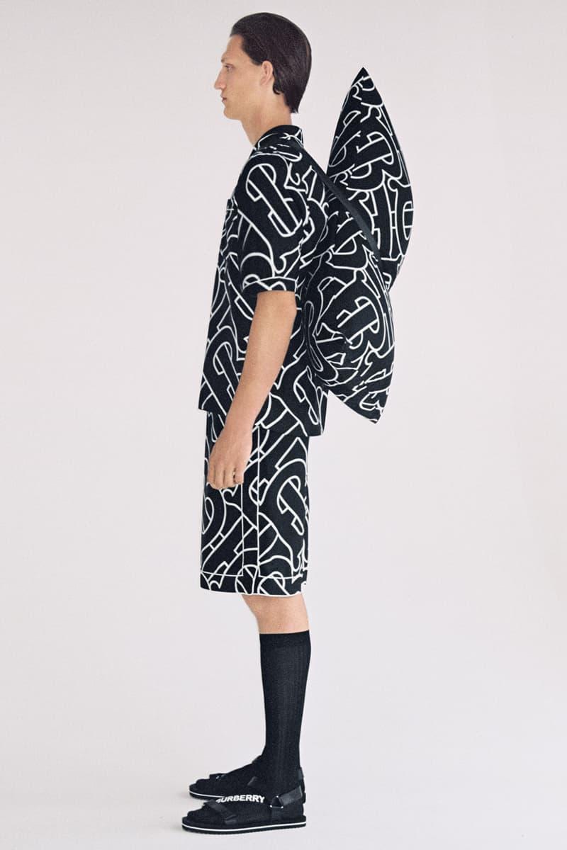 burberry b series silk pajamas pillows monogram logo sleep release instagram wechat