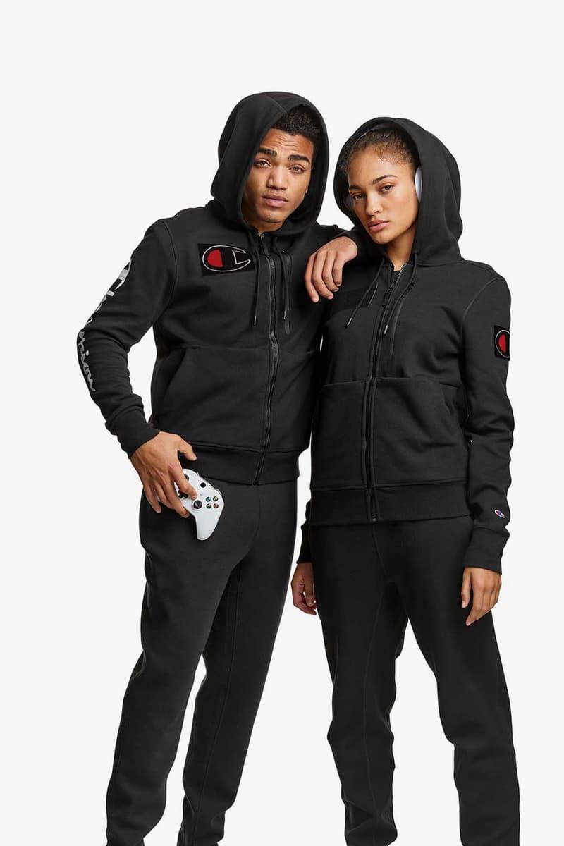champion athletics gamer collection esports players hoodies sweatpants black gray fleece
