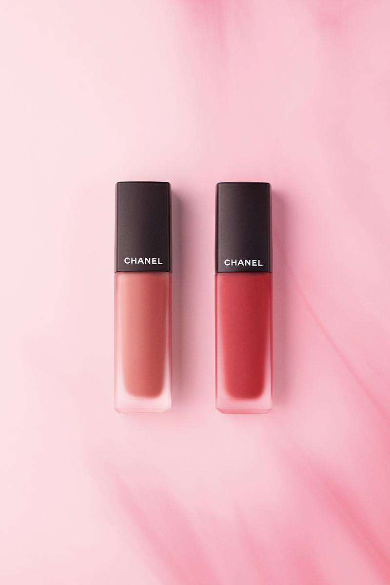 chanel beauty fall winter red collection lipsticks eyeshadows makeup lucia pica pink