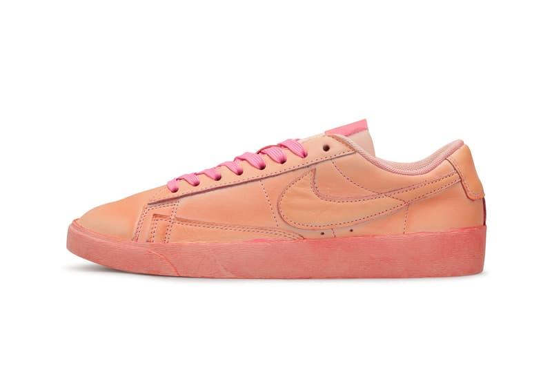 comme des garcons cdg girl nike collaboration blazer low womens sneakers pink colorway sneakerhead footwear shoes
