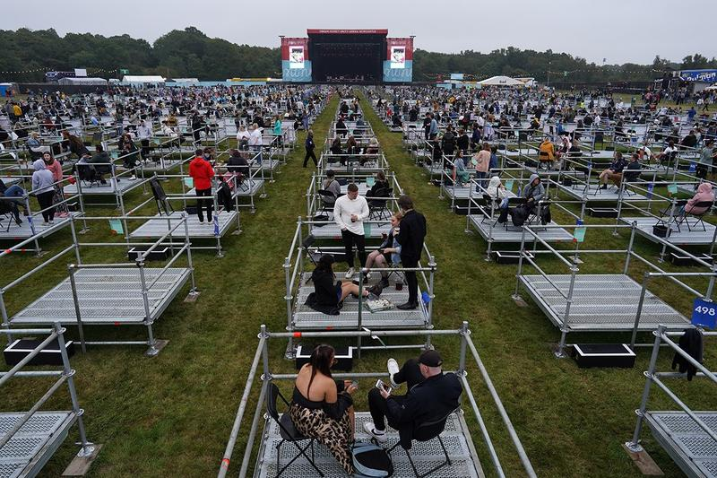 coronavirus covid-19 socially distanced outdoor concert festival newcastle uk sam fender