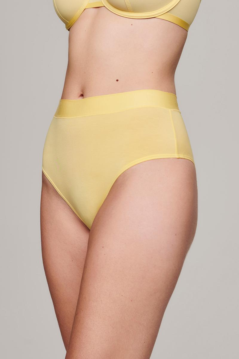 Cuup Citrine Pastel Yellow The Highwaist Panties Underwear Lingerie