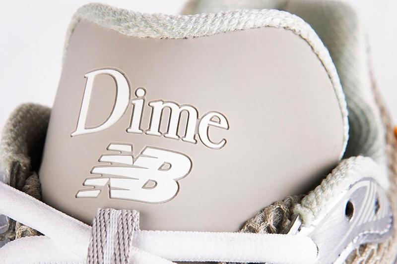 dime new balance collaboration sneakers cream gray teaser sneak peek sneakerhead shoes footwear