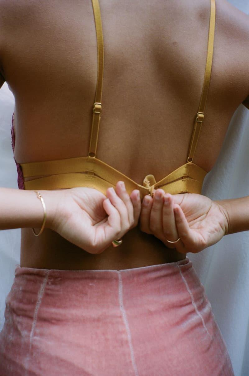 Dora Larsen Lingerie Meghan Padded Triangle Bra Velvet Pink Pants