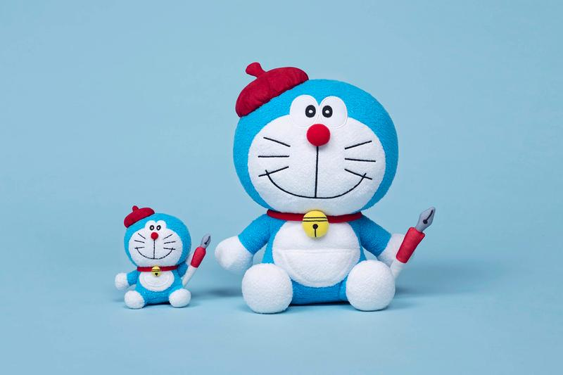 doraemon 50th anniversary allrightsreserved collaboration plush toys dolls home accessories t-shirts keychains