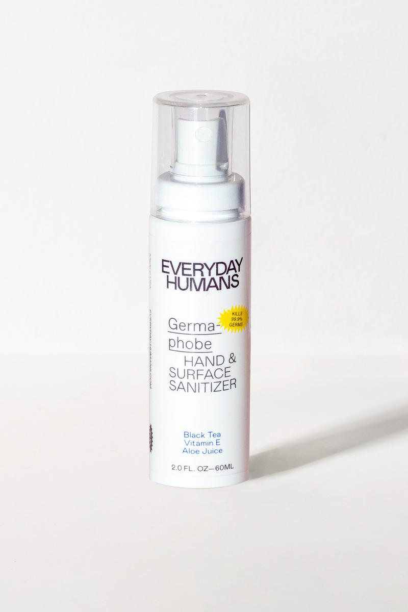everyday humans sanitizer covid-19 coronavirus hand mask surface germaphobe spray ethyl alcohol aloe vera green tea