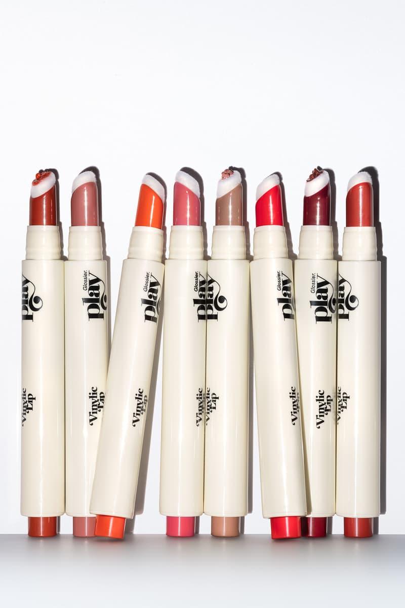 glossier vinylic lip high shine lacquer lipstick red pink makeup vegan cruelty free beauty