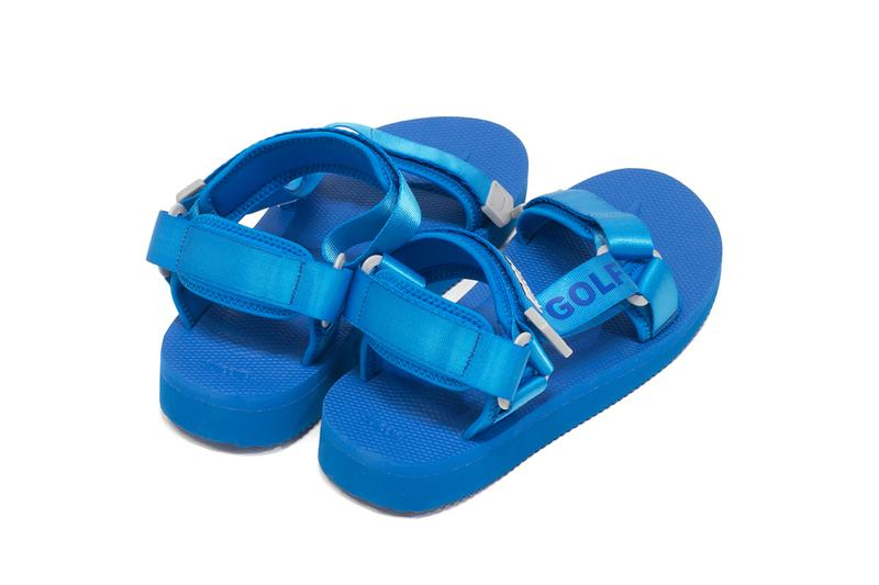 Golf Wang Suicoke DEPA Velcro Strap Sandals Blue Tyler the Creator Collaboration