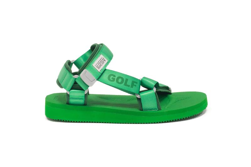 Golf Wang Suicoke DEPA Velcro Strap Sandals Green Tyler the Creator Collaboration
